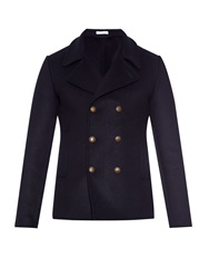 Tomas Maier Double Breasted Wool Blend Pea Coat