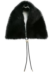 Mary Katrantzou Mink Fur Collar Black