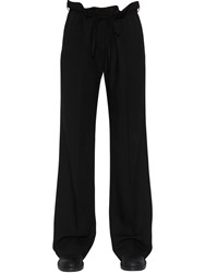 Ann Demeulemeester Straight Wool Crepe Pants
