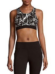 Threads For Thought Lulu Printed Racerback Sports Bra Lightning