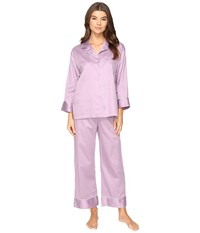 Natori Cotton Sateen Pj Lavendar Mist Women's Pajama Sets Purple