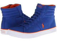 Polo Ralph Lauren Bawtry Sapphire Star Canvas Men's Lace Up Casual Shoes Blue
