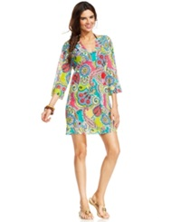 Anne Cole Sheer V Neck Tunic Cover Up Women's Swimsuit