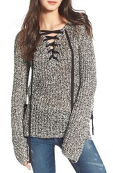 Pam And Gela Women's Lace Up Sweater
