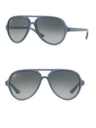Ray Ban Oversized Aviator Sunglasses Black Cristal