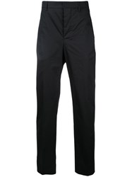 Christophe Lemaire Straight Leg Trousers Men Cotton Spandex Elastane 50 Black