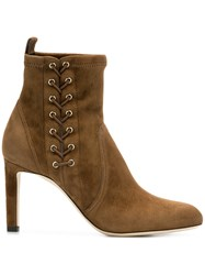 Jimmy Choo Mallory Ankle Boots Brown