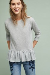 Anthropologie Peplum Sweatshirt Dark Grey