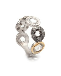 Coomi Opera Tricolor Crystal And Diamond Circle Ring Multicolored