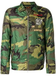 Mhi Maharishi World Tour Camouflage Jacket Cotton Polyamide M Green