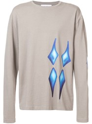 Rochambeau Graphic Print Long Sleeve Top Grey