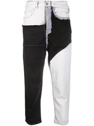 Rick Owens Drkshdw Colour Block Jeans Black