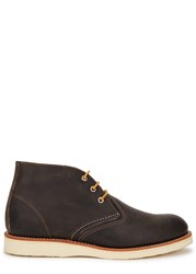 Red Wing Shoes Anthracite Leather Chukka Boots Charcoal