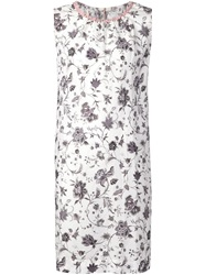 Dosa Floral Trapeze Dress White