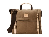 Will Leather Goods Wax Canvas Messenger Khaki Messenger Bags