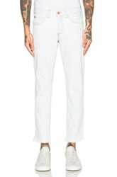 Off White Slim Fit Crop Jeans In Blue