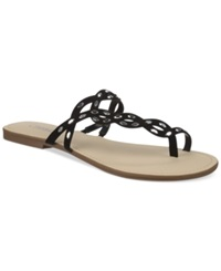 Carlos By Carlos Santana Selena Flat Toe Ring Sandals Women's Shoes Black