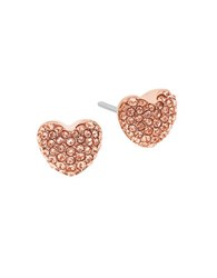 Michael Kors Cubic Zirconia And Crystal Stud Earrings Rose Gold