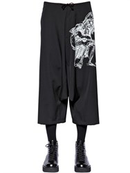 Yohji Yamamoto Drawing Light Wool Gabardine Pants