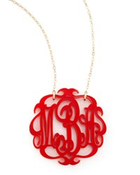 Large Acrylic Script Monogram Pendant Necklace Moon And Lola Violet
