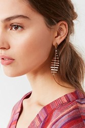 Urban Outfitters Fish Bone Statement Drop Earring Gold