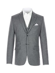 Racing Green Men's Tarvit Grey Herringbone Jacket Grey