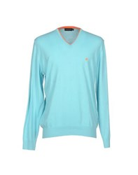Brooksfield Knitwear Jumpers Men Turquoise