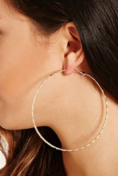 Forever 21 Oversized Etched Hoop Earrings