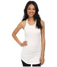 Splendid Classics 2X1 Racerback Tomboy Tank Top White Women's Sleeveless