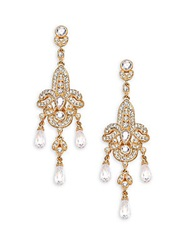 Adriana Orsini Pave Chandelier Earrings Yellow Gold