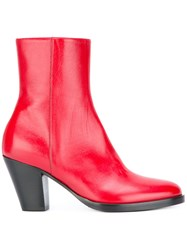A.F.Vandevorst Zipped Ankle Boots Red