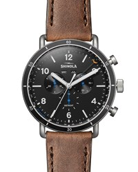 Shinola Limited Edition 47Mm Canfield Sport Watch Brown