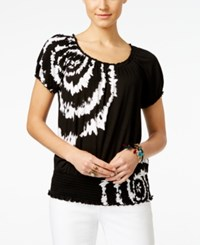 Inc International Concepts Short Sleeve Tie Dyed Peasant Top Only At Macy's Decorative Tie Dye