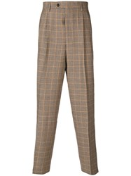 Lc23 Houndstooth Tapered Trousers Nude And Neutrals