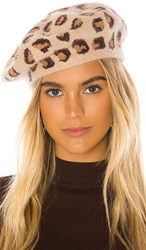 Hat Attack Leopard Beret In Brown. Natural