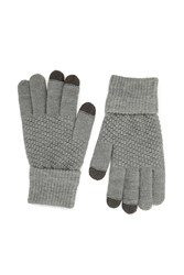 Forever 21 Popcorn Knit Texting Gloves Grey Charcoal
