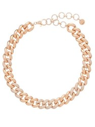 Shay Diamond And 18Kt Rose Gold Curb Chain Choker Rose Gold