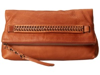 Frye Jenny Foldover Clutch Whiskey Soft Vinage Leather Clutch Handbags Brown