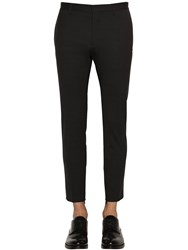 Dsquared Skinny Dan Stretch Worsted Wool Pants Black