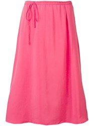 Humanoid Midi Skirt With Off Centre Fastening Pink And Purple