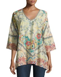 Johnny Was Dunes Floral Print Top Multi Pattern