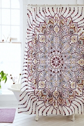 Plum And Bow Lalita Medallion Shower Curtain Pink