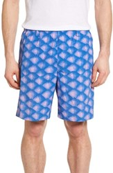 Columbia Men's Pfg Backcast Ii Print Swim Trunks Vivid Blue Tarpon Scales