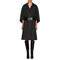 Narciso Rodriguez Belted Wool Twill Cavalry Coat Charcoal