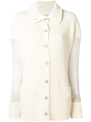Maison Martin Margiela Longsleeved Elongated Sweater Nude And Neutrals