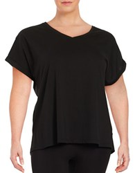 Lord And Taylor Knit Cotton Tee Black