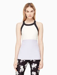 Kate Spade Blocked Band Racer Tank Lilac Charm