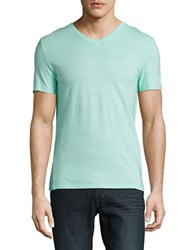 Calvin Klein Slim Fit Striped Cotton Tee Mint Splash