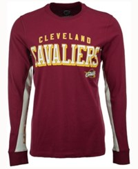 G3 Sports Men's Cleveland Cavaliers Hands High Front Four Long Sleeve T Shirt Maroon White