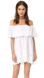 Miguelina Agnes Off The Shoulder Dress Pure White